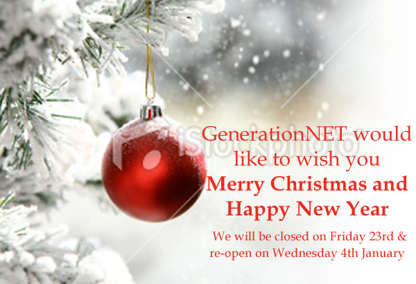 Happy Christmas From GenerationNET - Please download images in order to see this xmas card
